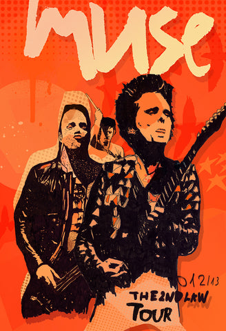 Muse - The 2nd Law Tour - A4 Music Mini Print