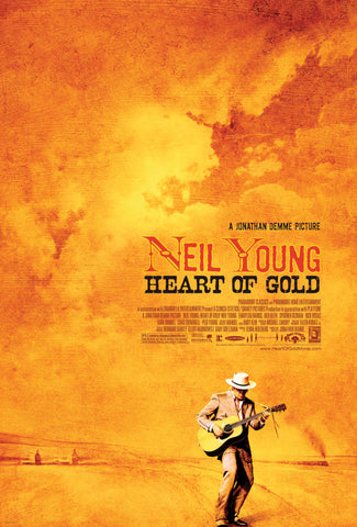 Neil Young - Heart of Gold - A4 Music Mini Print A