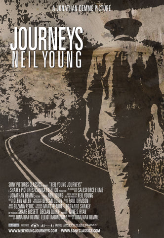 Neil Young - Journeys - A4 Music Mini Print A