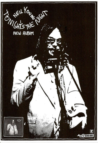 Neil Young - Tonights the Night Promo - A4 Music Mini Print