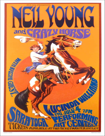 Neil Young and Crazy Horse - Saratoga - A4 Music Mini Print