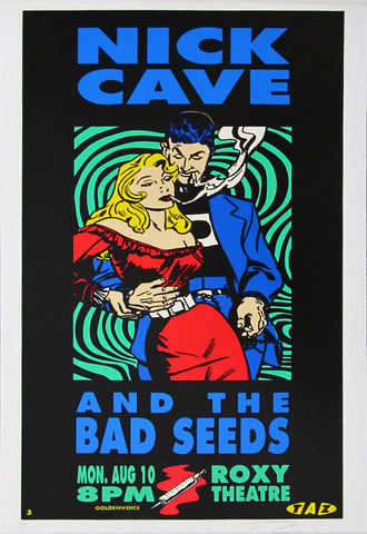Nick Cave and the Bad Seeds - Roxy Theatre - A4 Music Mini Print B