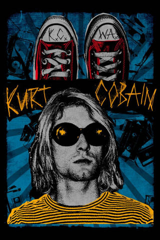 Nirvana - Kurt is Blue - A4 Music Mini Print