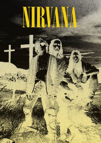 Nirvana - Negative - A4 Music Mini Print
