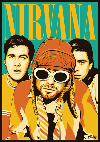 Nirvana - Group - A4 Mini Print