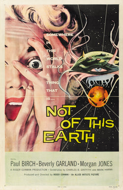 Not of This Earth - 50s B-Movie Classic - A4 Vintage  Print A