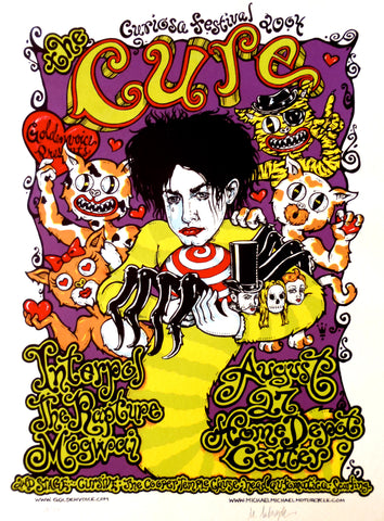 The Cure - Curiosa Festival 2004 - A4 Music Mini Print
