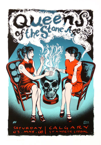 Queens of the Stone Age - Calgary 2008 - A4 Music Mini Print