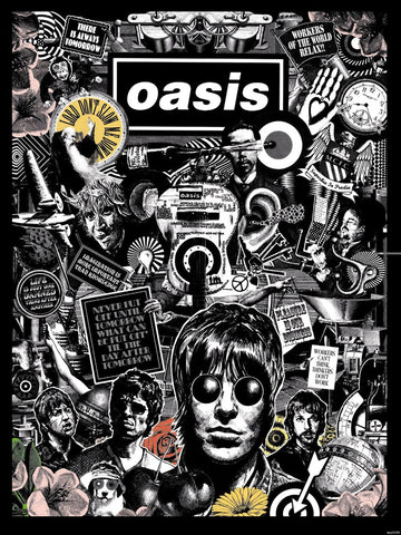 Oasis - Collage - A4 Music Mini Print B