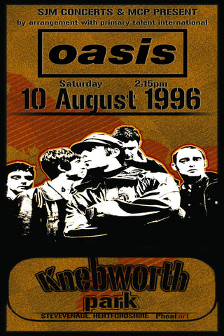 Oasis - Knebworth - A4 Music Mini Print B