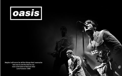 Oasis - Live Forever - A4 Music Mini Print