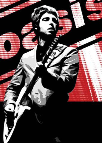 Oasis - Noel Gallagher - A4 Music Mini Print