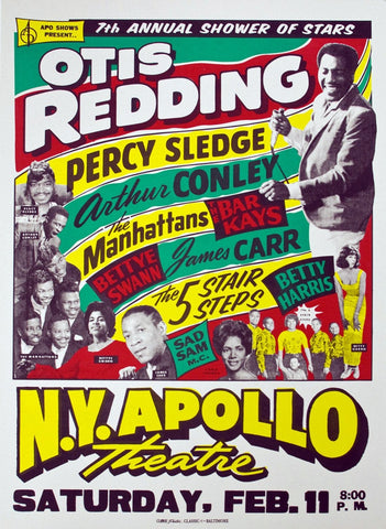 Otis Redding - New York Apollo - A4 Music Mini Print