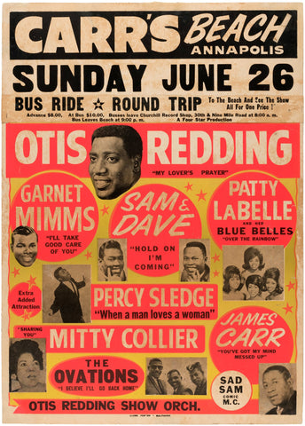 Otis Redding - Stax Review - Carr's Beach - A4 Music Mini Print
