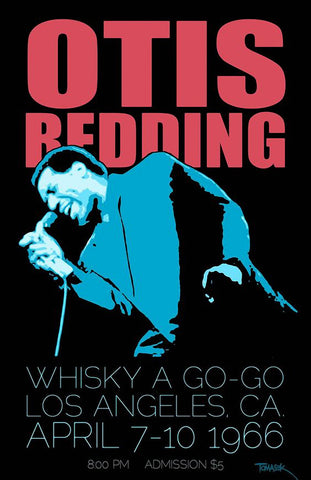 Otis Redding - Whiskey a Go-Go 1966 - A4 Music Mini Print