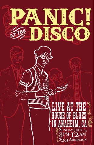 Panic at the Disco - House of Blues - A4 Mini Print