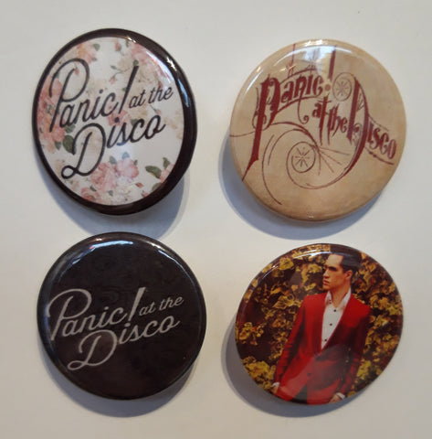 Panic at the Disco - PATD - Set of 4 Badges