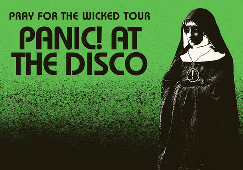 Panic at the Disco - Pray for the Wicked Tour - Green - A4 Music Mini Print