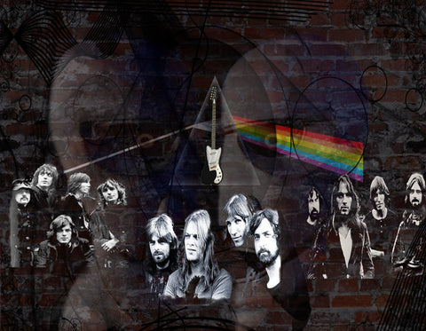Pink Floyd - Collage - A4 Music Mini Print