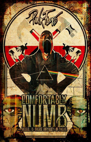 Pink Floyd - Comfortably Numb - A4 Music Mini Print