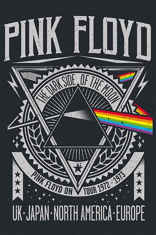 Pink Floyd - Dark Side of the Moon Tour 1972 -73 - A4 Music Mini Print