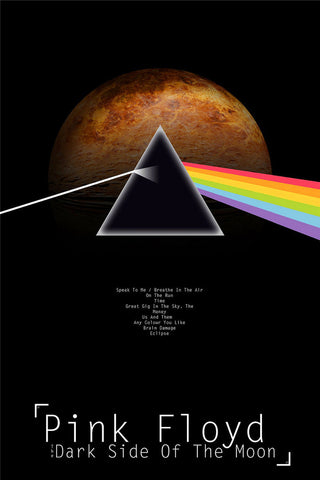 Pink Floyd - Dark Side of the Moon - A4 Music Mini Print