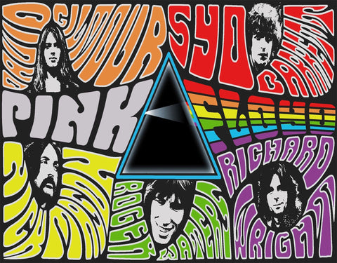 Pink Floyd - Montage - A4 Music Mini Print A