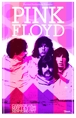Pink Floyd - New York 1972 - A4 Music Mini Print
