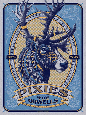 Pixies - Queen Elizabeth Theatre 2017 - A4 Music Mini Print