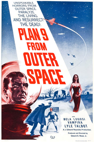Plan 9 from Outer Space - 50s B-Movie Classic - A4 Vintage Print