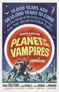 Planet of the Vampires - 50s B-Movie Classic - A4 Vintage Print A