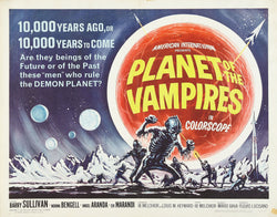 Planet of the Vampires - 50s B-Movie Classic - A4 Vintage Print B