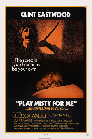 Play Misty for Me - Clint Eastwood - A4 Movie Mini Print