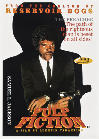 Pulp Fiction - Samuel L. Jackson - A4 Movie Mini Print