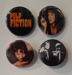 Pulp Fiction - Set of 4 Badges