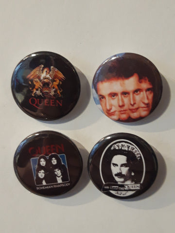 Queen / Freddie Mercury - Set of 4 Badges B