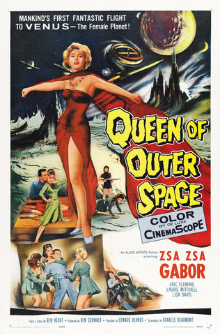 Queen of Outer Space - 50s B-Movie Classic - A4 Vintage Print A