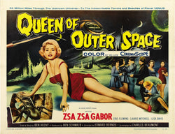 Queen of Outer Space - 50s B-Movie Classic - A4 Vintage Print B