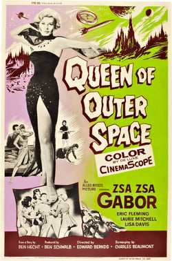 Queen of Outer Space - 50s B-Movie Classic - A4 Vintage Print C