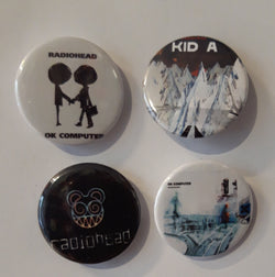 Radiohead - Set of 4 Badges