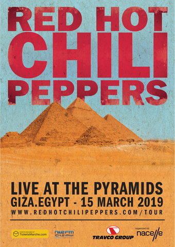 Red Hot Chili Peppers - Live at the Pyramids - A4 Music Mini Print