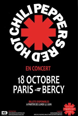 Red Hot Chili Peppers - Paris 2011 - A4 Mini Print