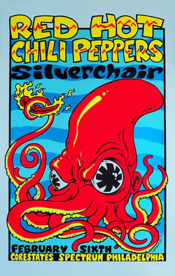 Red Hot Chili Peppers - Philadelphia - A4 Music Mini Print