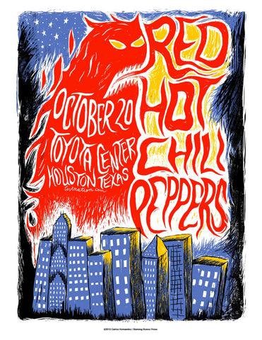Red Hot Chili Peppers - Texas - A4 Mini Print