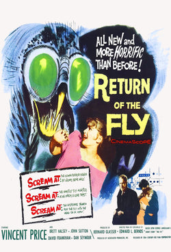 Return of the Fly - 50s B-Movie Classic - A4 Vintage Print A