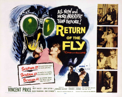 Return of the Fly - 50s B-Movie Classic - A4 Vintage Print B