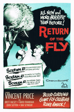 Return of the Fly - 50s B-Movie Classic - A4 Vintage Print C