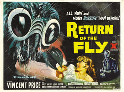 Return of the Fly - 50s B-Movie Classic - A4 Vintage Print D