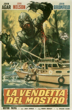 Revenge of the Creature - 50s B-Movie Classic - A4 Vintage Italian Print