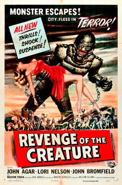 Revenge of the Creature - 50s B-Movie Classic - A4 Vintage Print A